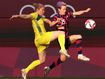 Chaotic goal frenzy as Matildas chase bronze medal