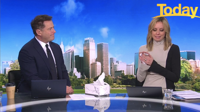 Stefanovic handed Langdon a tissue as she shared her family's story.