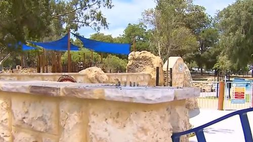 The park was eight years in the making, by the local members of the Rotary Club.