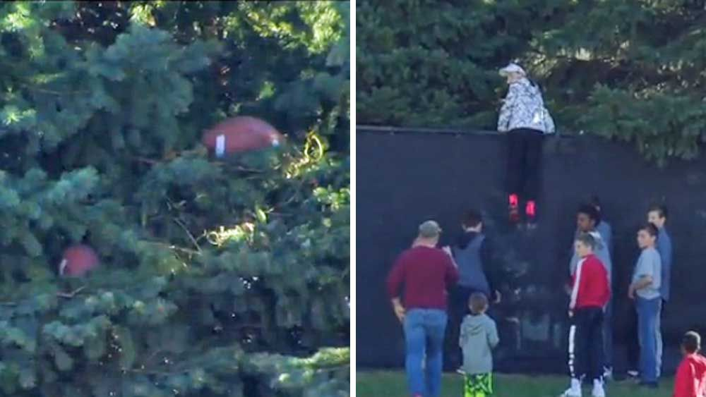 Gridiron: Kids steal the show with rescue attempt