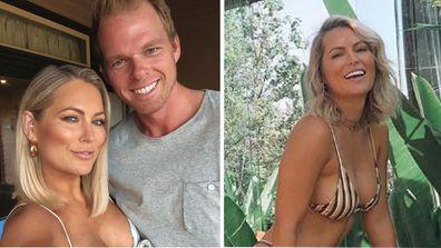 Keira Maguire wearing bikini and Jarrod Woodgate