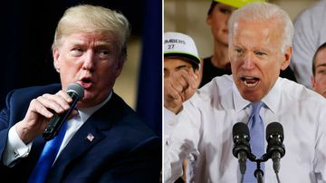 Donald Trump and Joe Biden. (AAP)