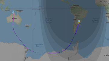 Qantas has flown its longest ever flight.