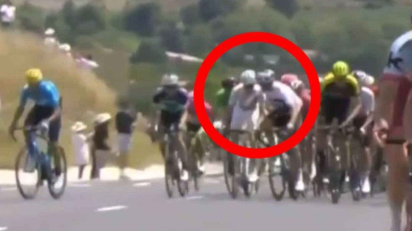 Italian rider Gianni Moscon's future in doubt after Tour de France ban for hitting rival