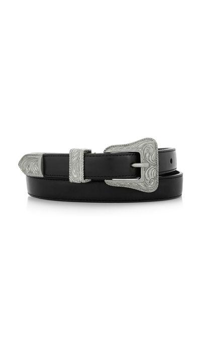 "<a href=""http://www.net-a-porter.com/product/590729/Saint_Laurent/leather-belt"" target=""_blank"">Belt, $443, Saint Laurent at net-a-porter.com</a>"