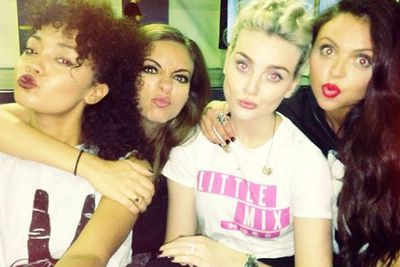 """@littlemixofficial: Sweating it out at rehearsals with the girls... """"Get your bum off the floor..."""" Leigh x"""
