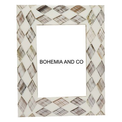 Temple and Webster — Grey Wood & Bone Photo Frame