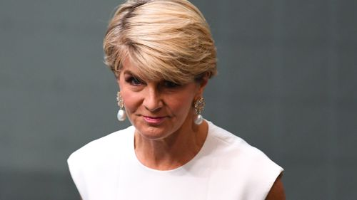 Former Australian Foreign Minister Julie Bishop makes a statement to the House of Representatives at Parliament House in Canberra