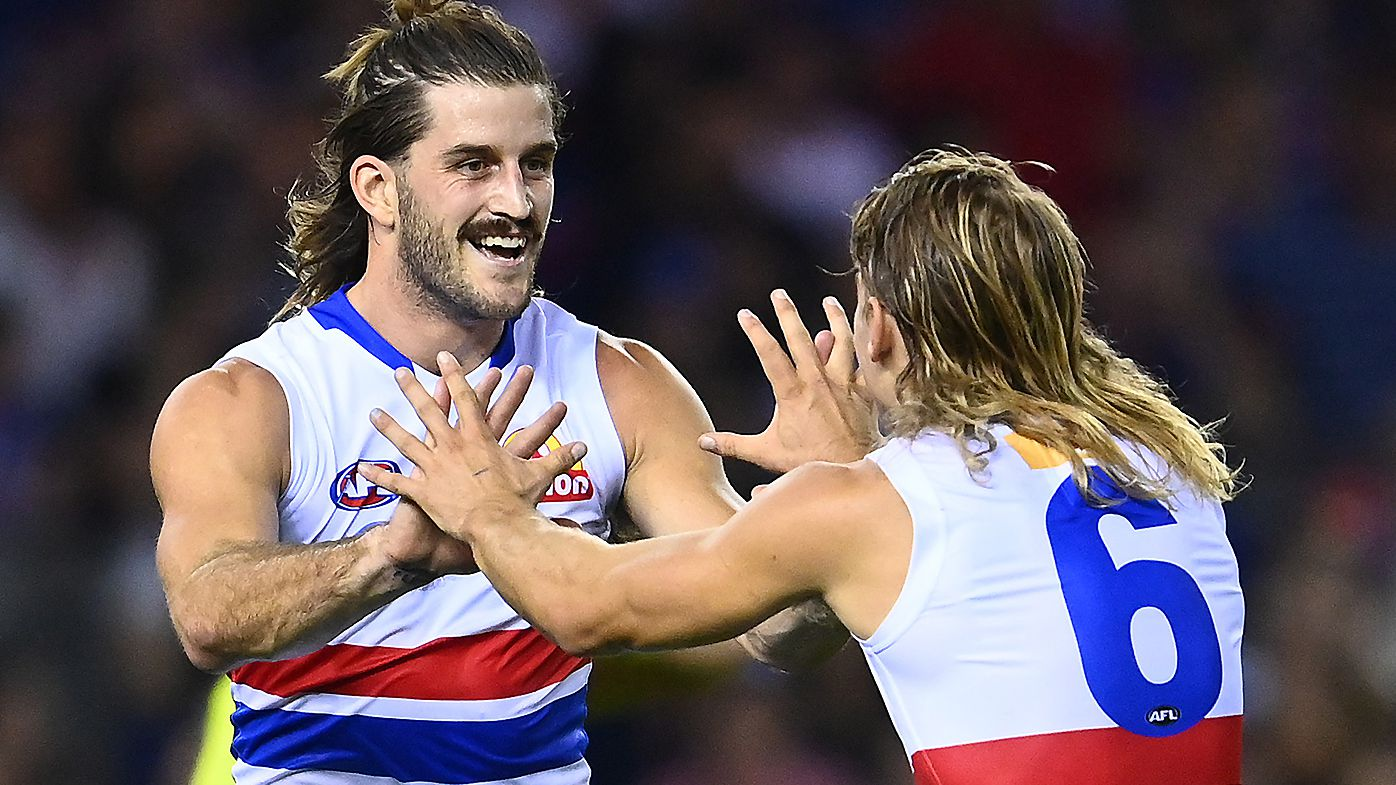 Josh Bruce kicks 10 goals as Western Bulldogs secure record-breaking win over Kangaroos