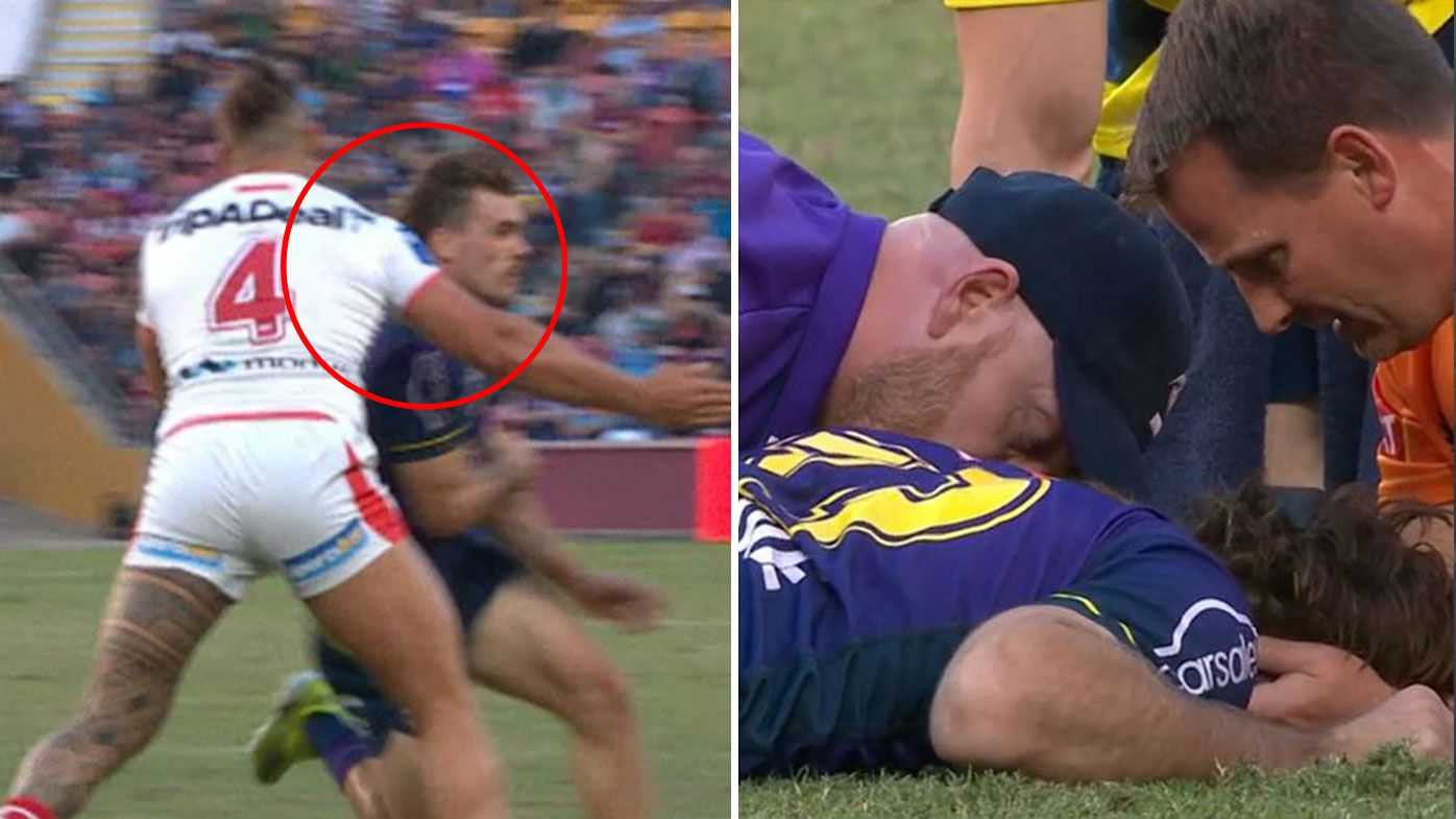 Dragons centre Tyrell Fuimaono sent off for 'incomprehensible' high shot on Storm's Ryan Papenhuyzen