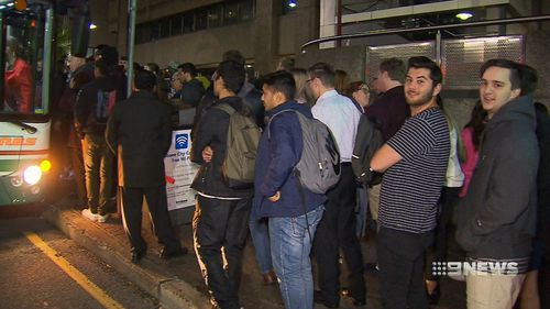 Dozens of commuters were stranded. (9NEWS)
