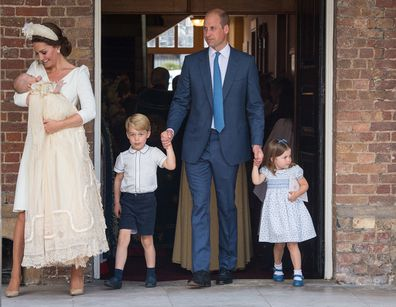 Prince Louis was christened on July 9 in 2018.