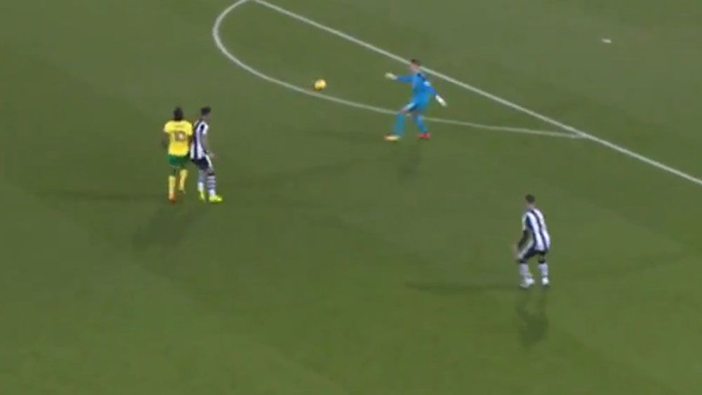 Swing and a miss for Newcastle goalkeeper