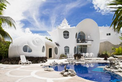 5. Seashell shaped island home, Isla Mujeres, Mexico