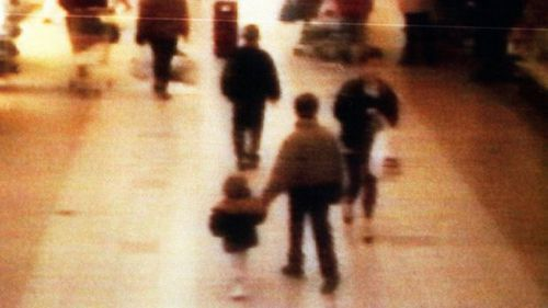 James Bulger was led away by Jon Venables and Robert Thompson and murdered.