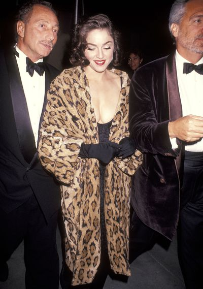 Madonna atthe Wedding Reception for Allen Grubman and Deborah Haimoff on October 12, 1991 at the New York Public Library