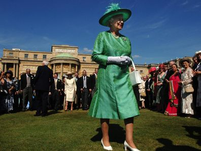 Queen Elizabeth ll hosts a Garden Party at Buckingham Palace on July 11 2006. (Photo by Anwar Hussein Collection/ROTA/WireImage)