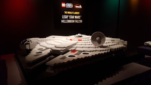 The impressive spectacle is being housed at Legoland Chadstone. (9NEWS)