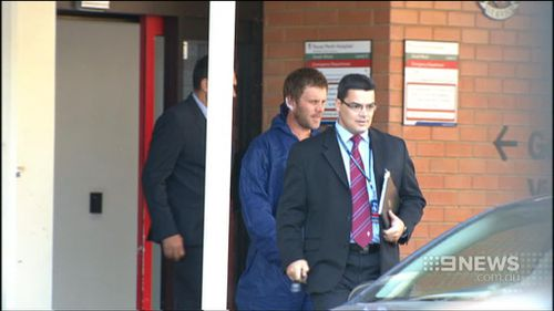 Hawke bowed his head when he was sentenced to 17 years jail yesterday. Picture: 9NEWS