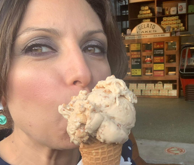 Jo Abi with icecream cone