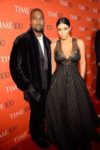 Kanye West and Kim Kardashian West attend <em>TIME</em> 100 Gala, April 2015