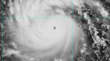 A super typhoon is expected to wreak havoc in Taiwan, with wind gusts of up to 263km/h already recorded about 780km southeast of the country's Hualien City.<br> <br> Typhoon Nepartak is expected to make landfall on Friday morning local time.<br> <br> The tropical storm, with a radius of 200km, is moving towards the country at about 20km/h.<br> <br> The country's defence department said they had 35,000 soldiers on standby to assist anyone in need.<br> <br> Click through the gallery to see some stunning satellite imagery of the approaching typhoon.