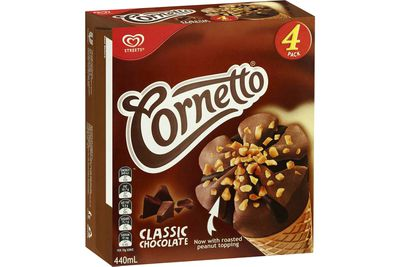 Cornetto Classic Chocolate: 15.1g sugar — almost 4 teaspoons