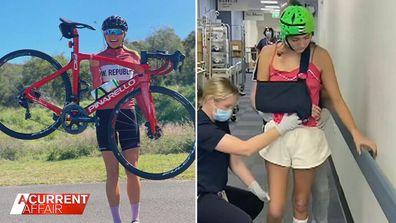 Triathlete injured in horror accident inspires social media campaign.