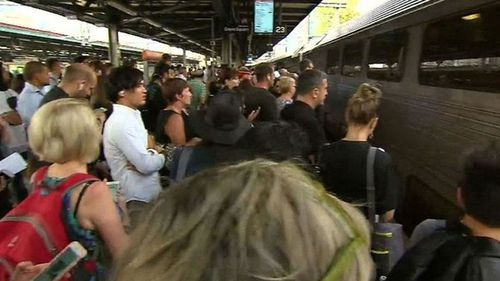 Overcrowding temporarily shut down some CBD stations this morning. (9NEWS)