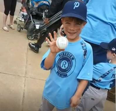 Mason had just been chosen for an all-star baseball team.