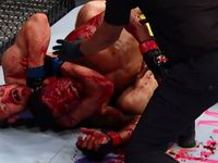'A horror movie!': UFC goes crazy for 'bloodbath' win