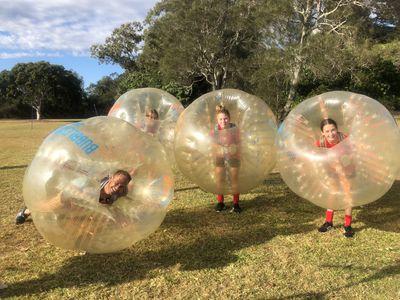 A bubble soccer champion!