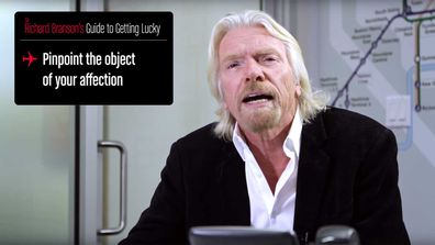 Richard Branson stars in promo video on how to get lucky using the inflight messaging system