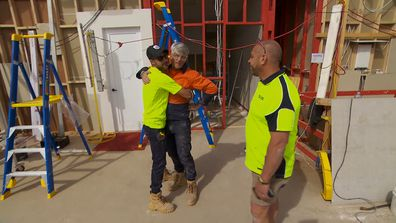 Mitch and Mark offer Vito help to finish his bathroom