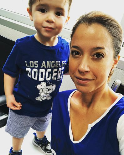 Mireya Villarreal and her three-year-old son
