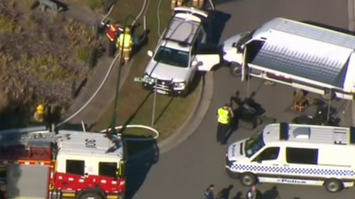 Explosion heard at Melbourne home after suspicious device found during drug raid