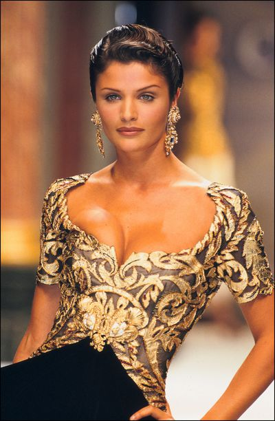 Helena ChristensenDior Haute Couture Fall Winter 93-94, 1993