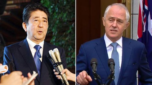 Japanese Prime Minister Shinzo Abe and Malcolm Turnbull have condemned the launch. (AP)