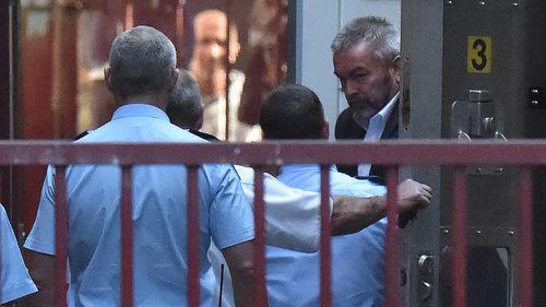 Borce Ristevski arrives to the Supreme Court of Victoria today.