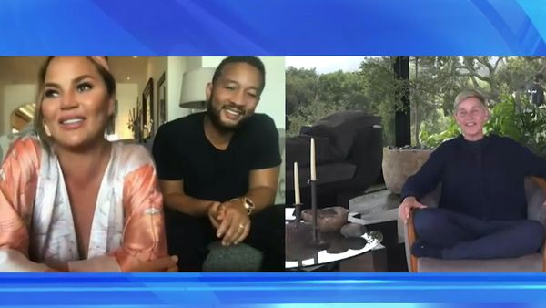 Ellen chats to Chrissy Teigen and John Legend on dealing with quarantine