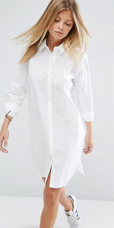 "<a href=""http://www.asos.com/au/asos/asos-cotton-mini-shirt-dress/prd/8474634?clr=white&SearchQuery=shirtdress&gridcolumn=3&gridrow=7&gridsize=4&pge=1&pgesize=72&totalstyles=818"" target=""_blank"">ASOS Cotton Mini Shirt Dress in White, $40</a>"