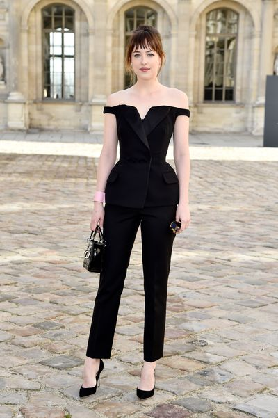 Dakota Johnson at the Christian Dior show as part of the Paris Fashion Week, March, 2015
