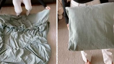 Mama Mila sheet folding hack