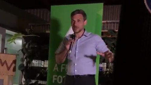 "Greens candidate Michael Berkman spoke of ""making history""."