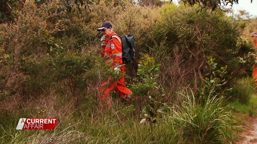 Police will be re-searching dense bushland today. (9NEWs)