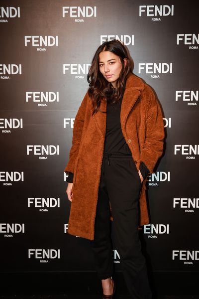 Jessica Gomes at the opening of Fendi's new boutique in Collins Street Melbourne