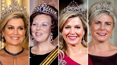 A closer look at the Dutch royal family's tiaras