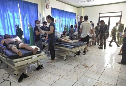 Dozens of people were killed and injured in the twin bombings Jolo's Our Lady of Mount Carmel cathedral.