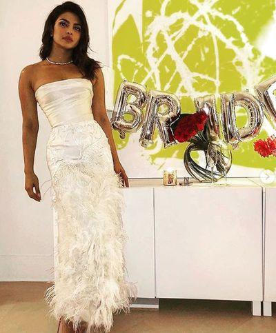 Priyanka Chopra's bridal shower at the Tiffany & Co Blue Box Cafe, New York, 28, October, 2018