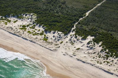 4WD vehicles entering Worimi Conservation Lands, Port Stephens.